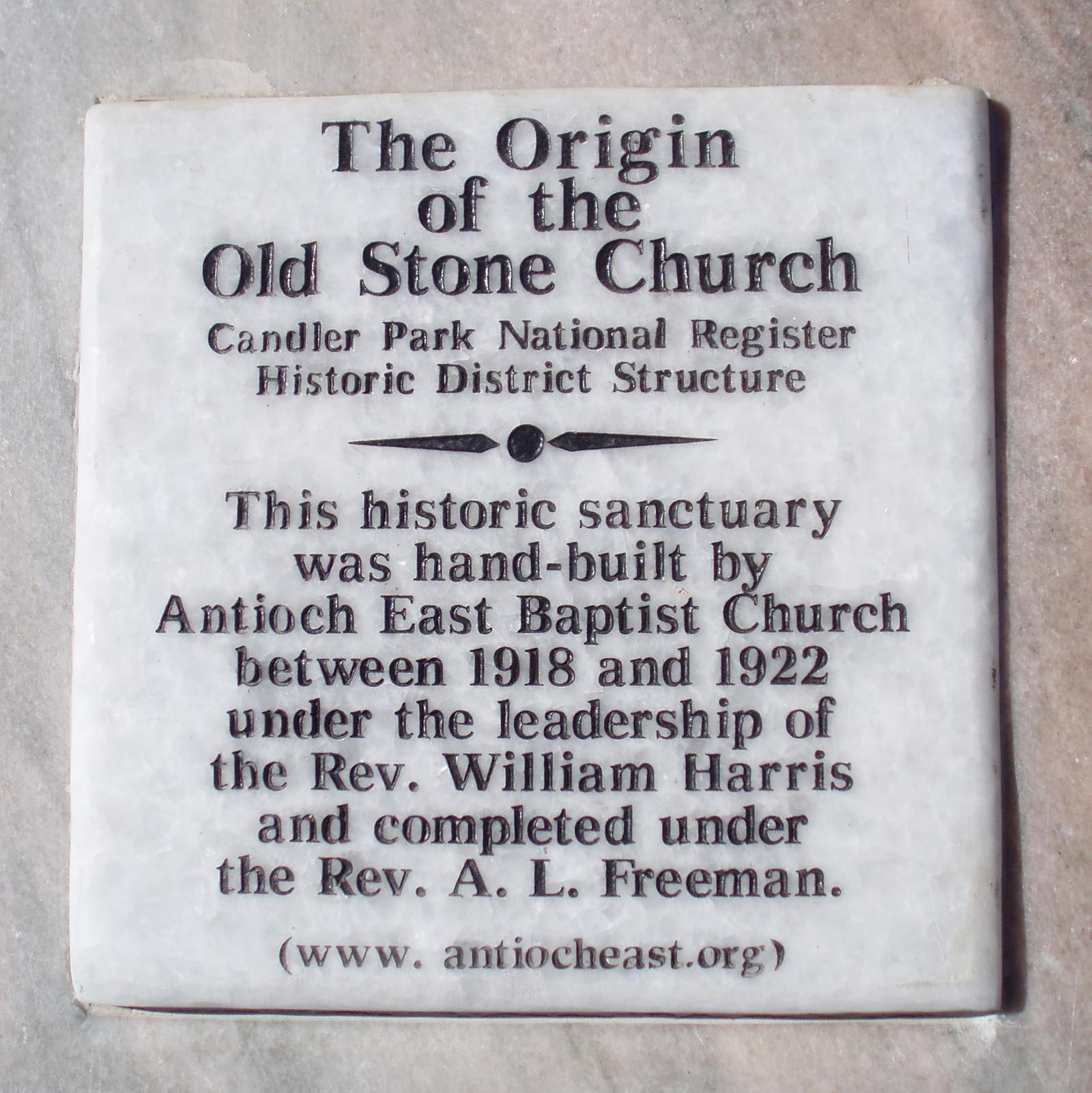 Old Stone Church Marker